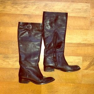 Black leather Lauren Ralph Lauren boots size 6.5
